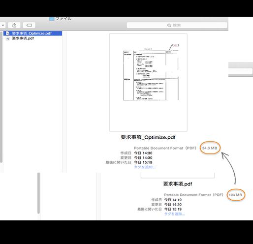 MacでPDF圧縮・最適化