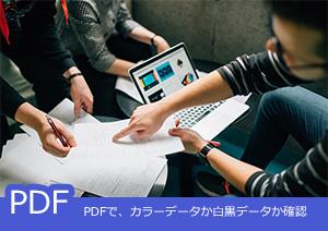 PDFで、カラーデータか白黒データか確認する方法