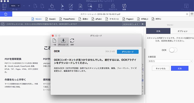 pdf Word 変換 OCR mac