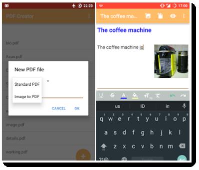 AndroidスマホでPDF作成