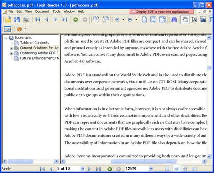 PDF リーダー