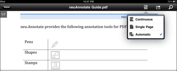 iPad Adobe Reader PDF 閲覧