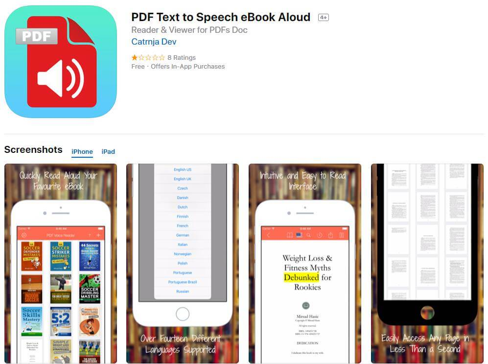 how to read pdf files on iphone