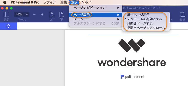 PDFページ表示形式